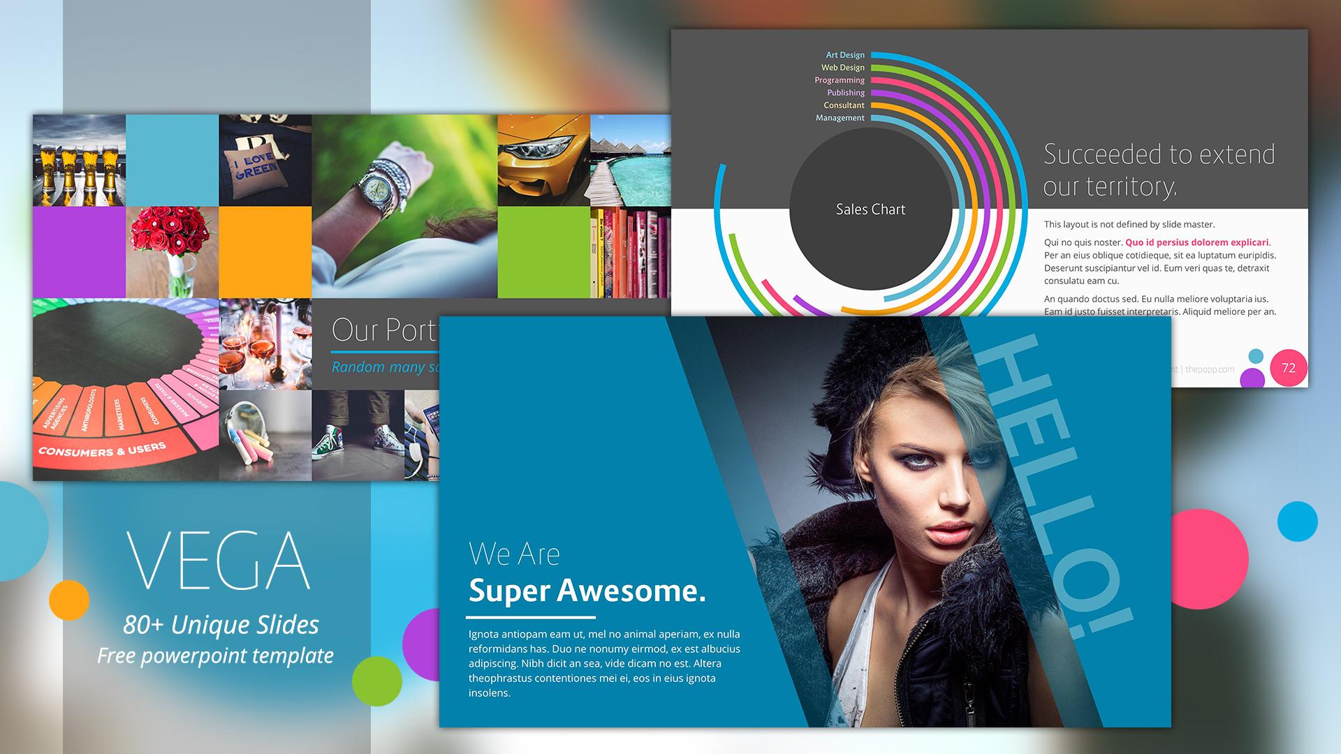 vega free powerpoint template フリーパワーポイントテンプレート