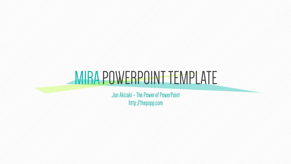 mira free powerpoint template フリーパワーポイントテンプレート