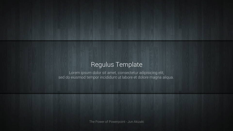 regulus free powerpoint template フリーパワーポイントテンプレート