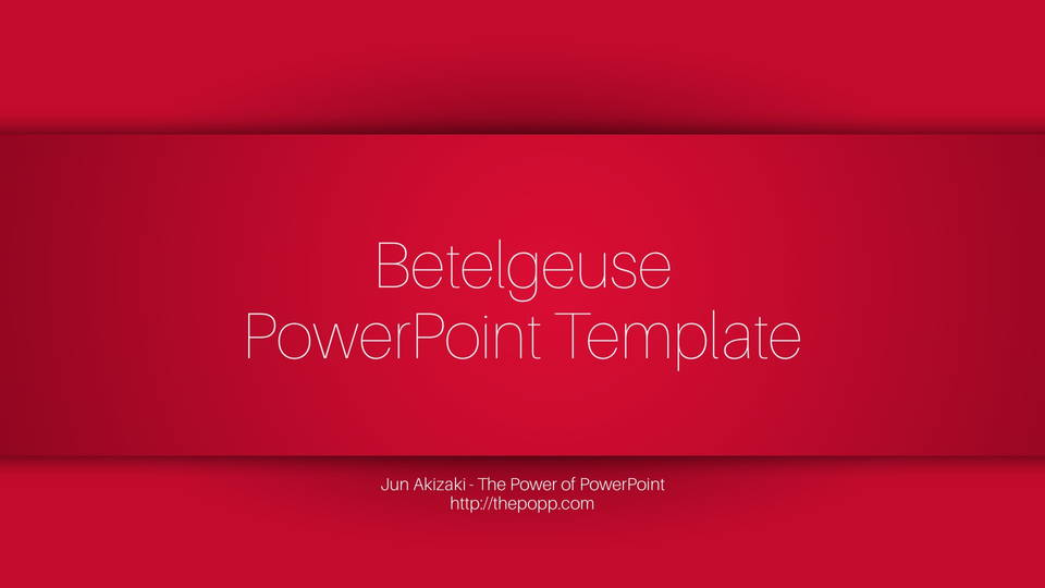 betelgeuse free powerpoint template フリーパワーポイントテンプレート