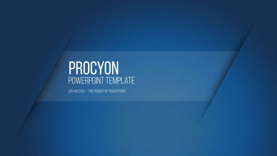 procyon free powerpoint template フリーパワーポイントテンプレート