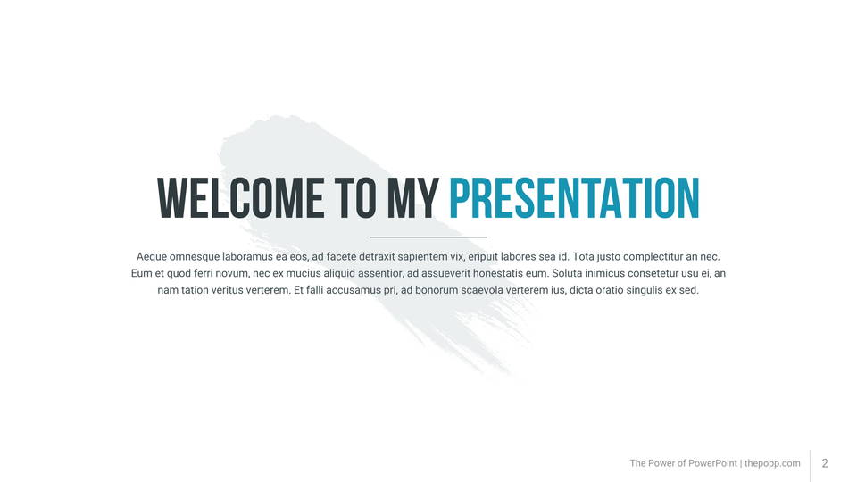 pollux free powerpoint template フリーパワーポイントテンプレート